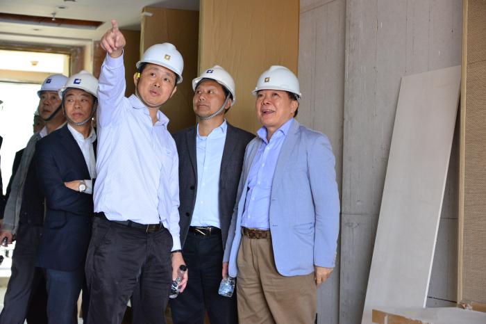 刘海云董事长率集团高管考察深圳佳兆业金沙湾万豪